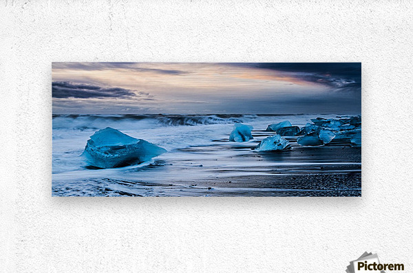 Ice Beach, Iceland  Metal print