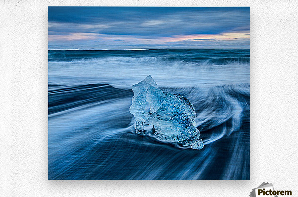Jokulsarlon Ice Beach, Iceland  Metal print