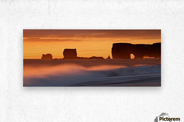 Vik Sunset, Iceland  Metal print