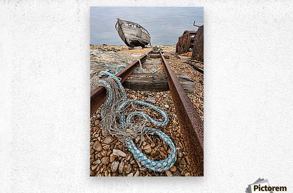 Deserted Dungeness  Metal print
