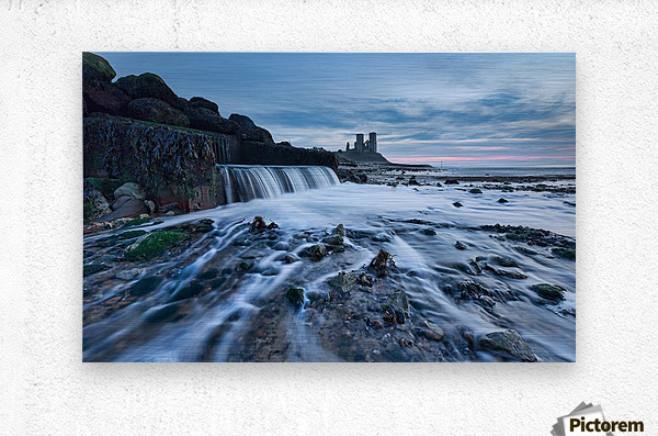 Beach Waterfall, Kent, UK  Metal print