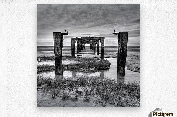 Derelict Pier  Metal print