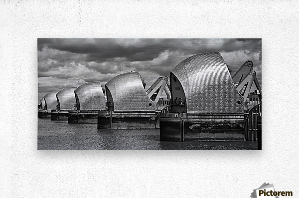Thames Barrier, London, UK  Metal print
