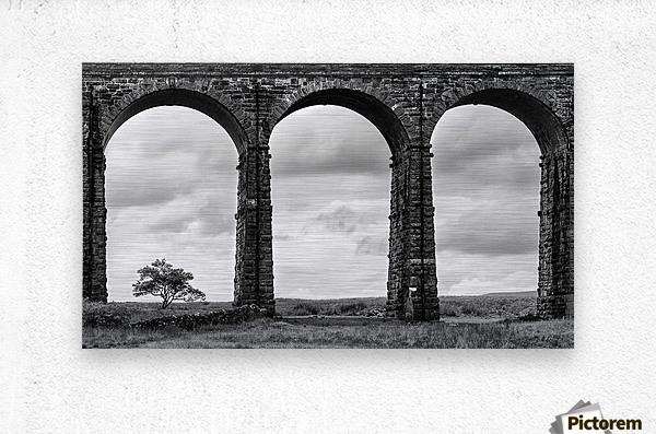 Settle Carlisle Viaduct Yorkshire England  Metal print