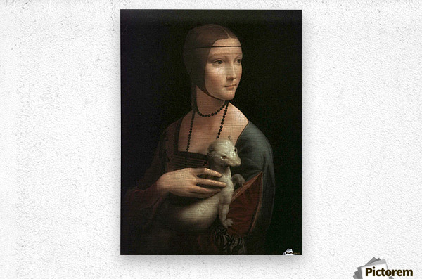 The Lady with Ermine  Metal print