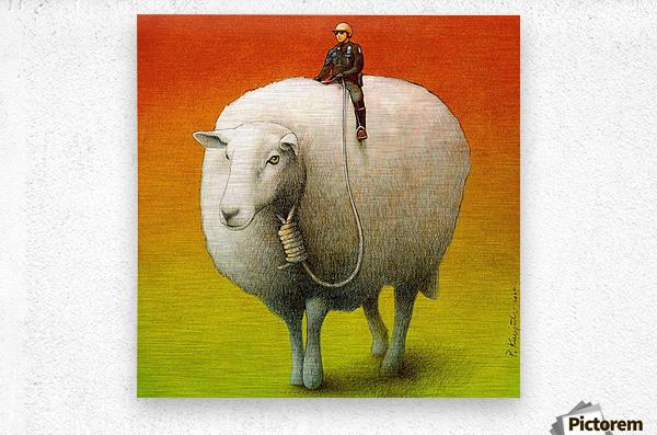 Sheep Control  Impression metal
