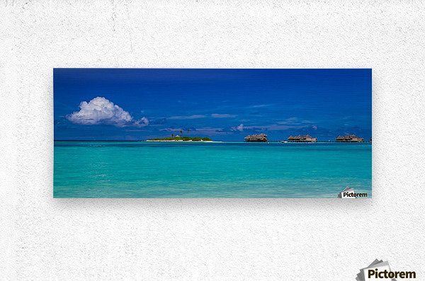 Amazing beach in Maldives, summer travel  Metal print