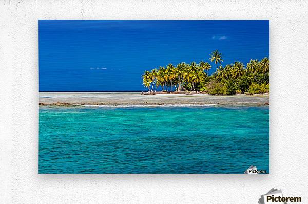 Tropical island background  Metal print
