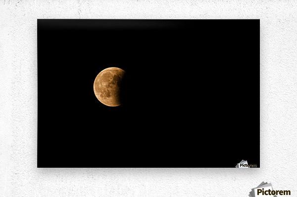 Moon, total Lunar eclipse as seen  Metal print