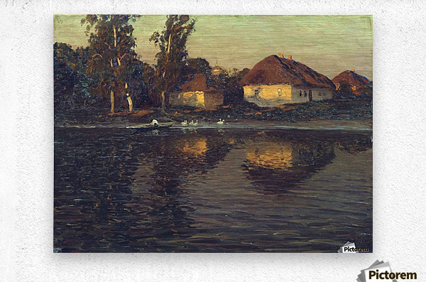 Evening in the Ukraine  Metal print