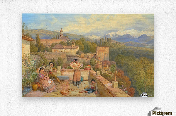 The Sierra Nevada from the Alhambra  Metal print