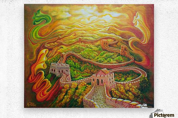 Dragon's eye view  Metal print