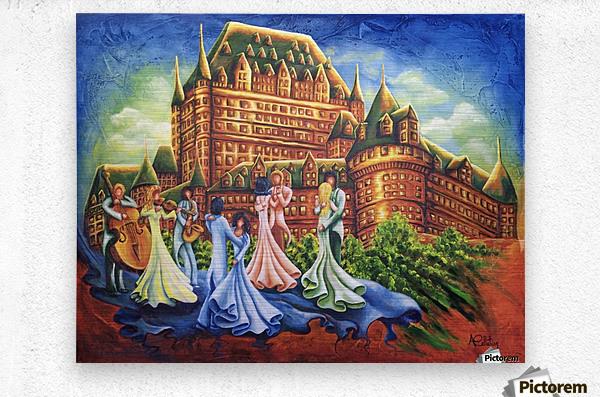 Jour de bal au Château  Metal print