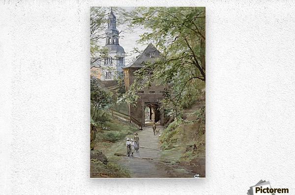 Mulln monastery in Salzburg  Metal print