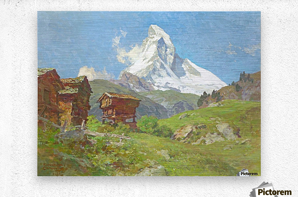 Matterhorn seen from Winkelmatten  Metal print