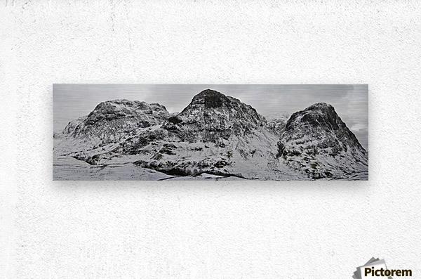 The Three Sisters, Glencoe  Metal print