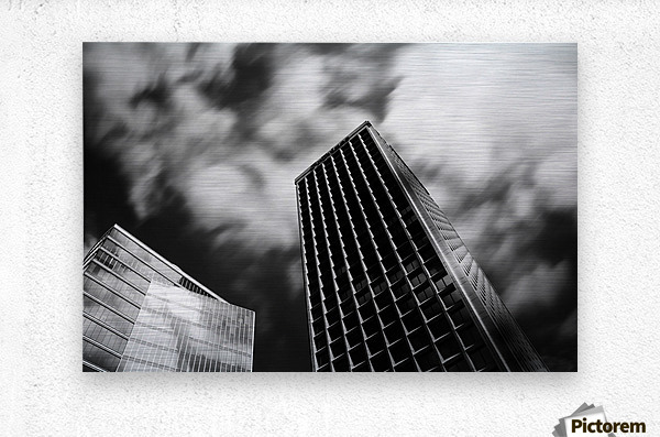 Black and white tower  Metal print