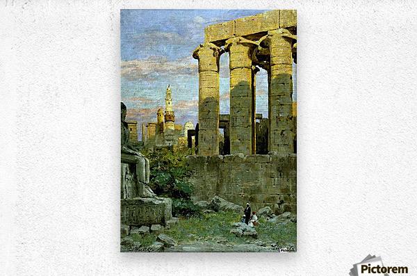 Temple of Luxor, with Abu al Haggag Mosque  Metal print