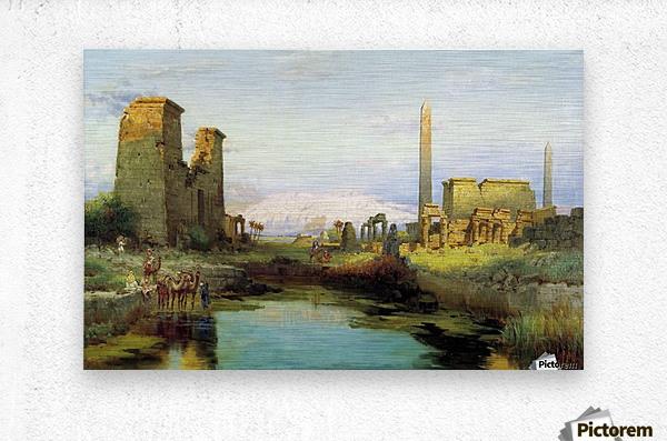The Temple of Karnak 1911  Metal print