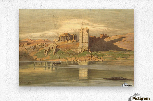 The Temple Ruins of Kum-Ombo, Egypt  Metal print