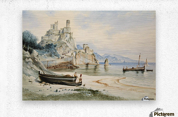 Sicilian Coastal Landscape  Metal print