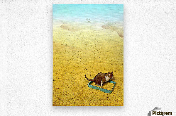Cat Sandbox - Pawel Kuczynski - Canvas Artwork