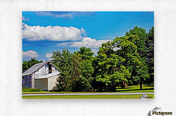 Storm Clouds Over the Barn 1  Metal print