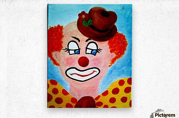 Masker, The sad Clown  Metal print