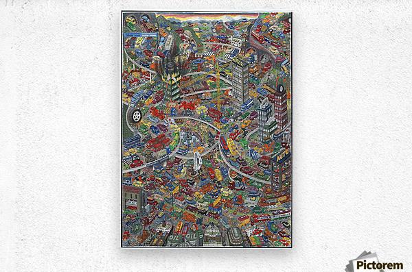 Biler - Cars  Metal print