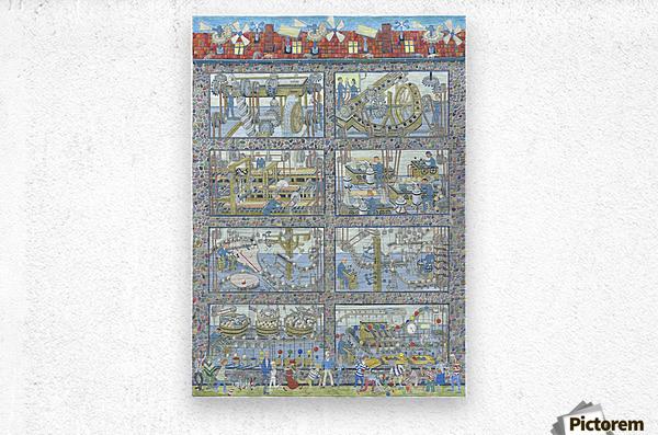 Boccakulefabrikk - The bocca factory  Metal print