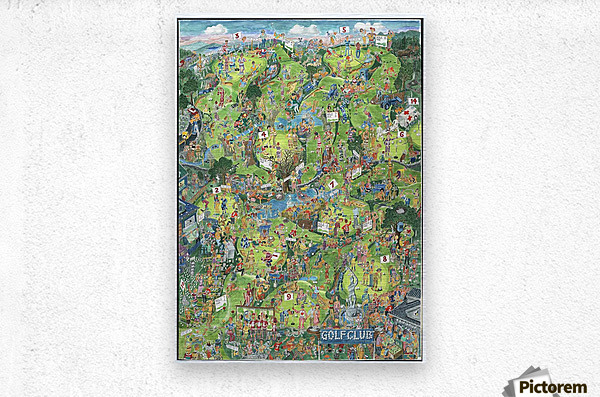 Golfbane - Golf course  Metal print