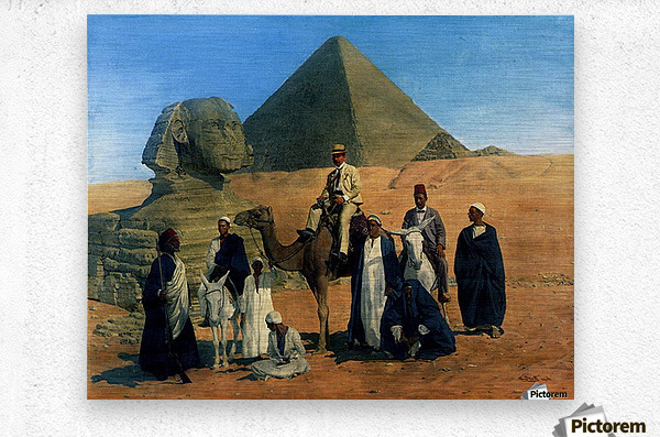 In search of the Pharaohs  Metal print