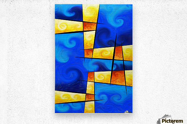 Fergussos V1 - digital abstract  Metal print