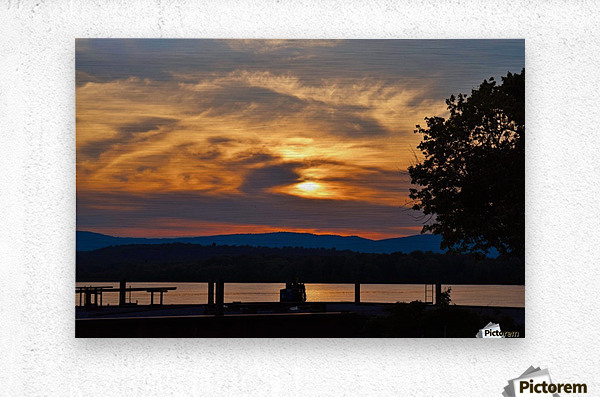 Sunset on the Shores of Ticonderoga  Metal print