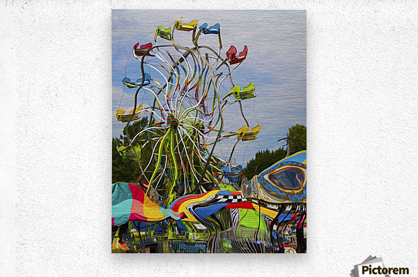 Strange Days at the County Fair  Metal print