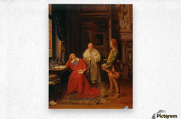 The Hugenot Messenger  Metal print