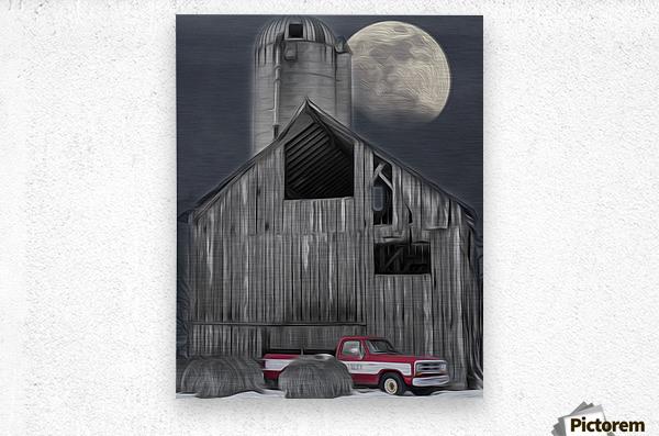 Evening at the Barn  Metal print