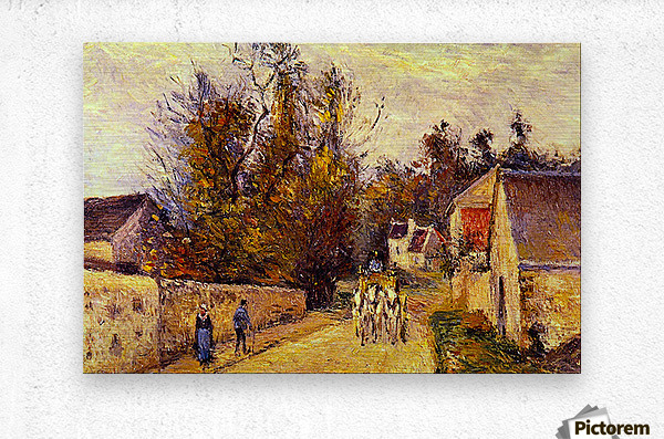 La Diligence, Route dEnnery by Pissarro  Metal print