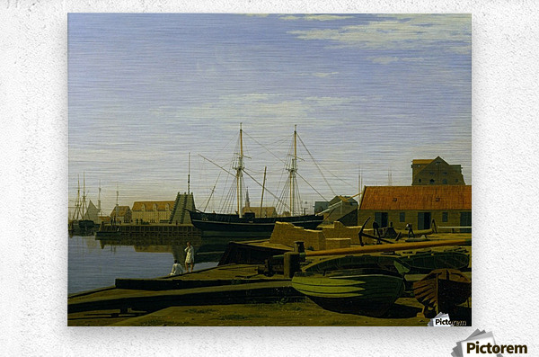Larsen Square near Copenhagen Harbor  Metal print