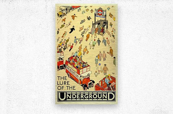 Vintage Travel Poster London Underground  Metal print