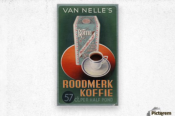 Vintage poster for Van Nelle Roodmerk Koffie  Metal print