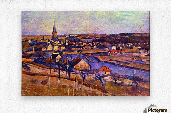 Landscape of Ile de France by Cezanne  Metal print