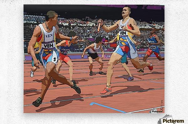 Athletics_04  Metal print