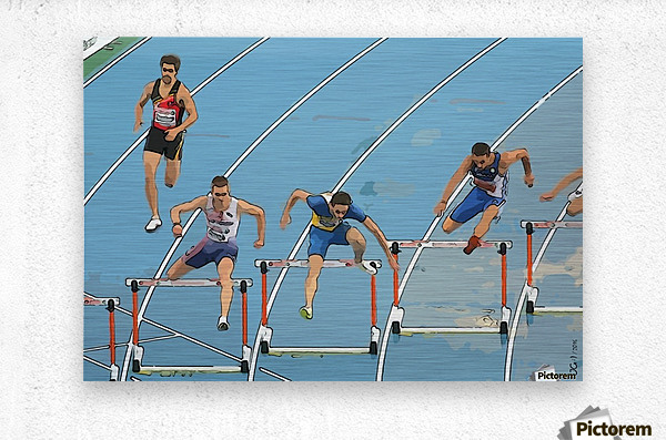 Athletics_13  Metal print