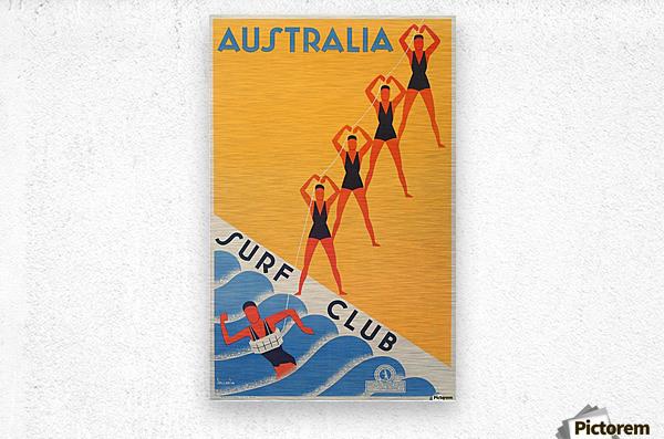 Australia Surf Club poster  Metal print