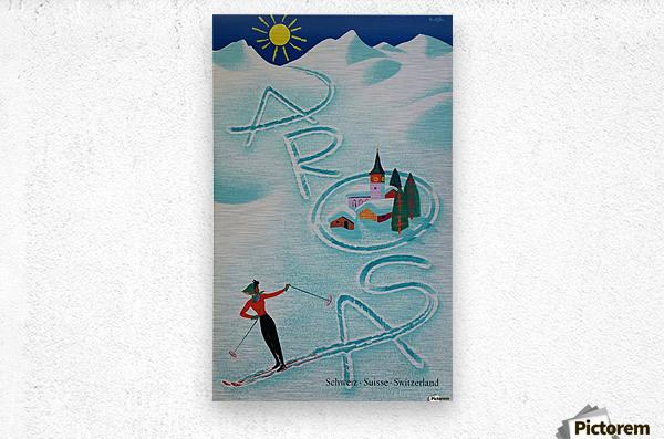 Original vintage poster ski Arosa Suisse  Metal print