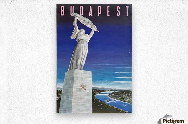 Original vintage poster Budapest  Metal print