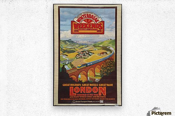 London vintage travel poster for British Railways  Metal print