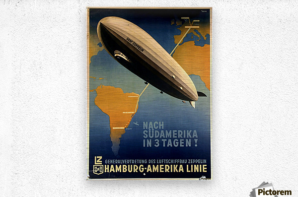 Graf Zeppelin to Argentina  Metal print