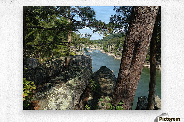 View of the Potomac at Great Falls  Metal print